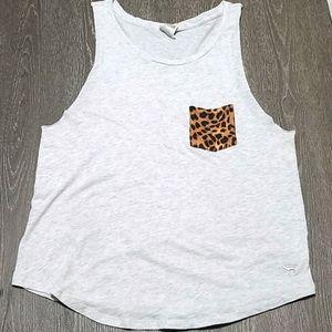 Pink Victoria's Secret Tank Cheetah Print Pocket